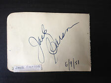 JACK CARSON - LEGENDARY HOLLYWOOD ACTOR - SIGNED VINTAGE ALBUM PAGE