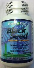 Black Cumin Seed 500mg 100 Capsules - Black Seed Herb Powder Nigella Sativa