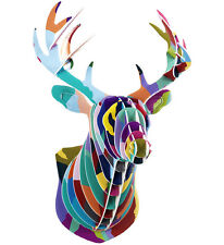Wall Art Decals Mounted Deer Head Contemporary Fake Taxidermy Cardboard By H