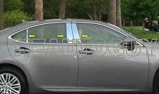2013 2014 2015 LEXUS ES350 STAINLESS STEEL 6 PC PILLAR POST MOLDING SET