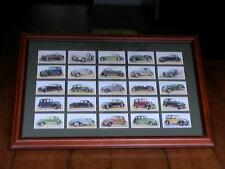 "VINTAGE 1936 PLAYER'S CIGARETTE CARD SET "" MOTOR CARS "" SET OF 50 FRAMED ANTIQUE"