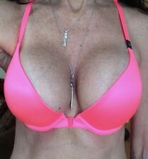 36C VICTORIA SECRET VERY SEXY HOT PINK STRAPPY RACER LIGHTLY LINED PLUNGE BRA
