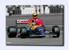 "AYRTON SENNA MANSELL 30""x20"" CANVAS ART PRINT POSTER PHOTO PICTURE F1 UNSIGNED"