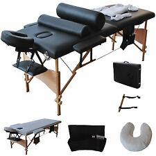 Massage Table Portable Bed Spa Facial W Case L Carry Tattoo White 84 2 Pad Chair