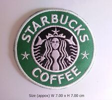 new Starbucks Embroidered Patch Iron On Applique Badge Jacket T-Shirt DIY