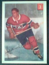 JEAN BELIVEAU  1954-55 LIMITED EDITION PARKHURST REPRINT CARD No.3