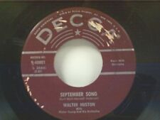 """WALTER HUSTON """"SEPTEMBER SONG / LOST IN THE STARS"""" 45"""