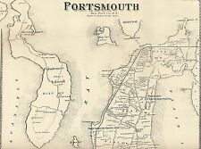 Jamestown Portsmouth Prudence Island RI 1870  Maps with Homeowners Names Shown