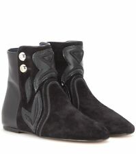 Isabel marant rick en daim et cuir bottines eu 38 uk 5 us 8