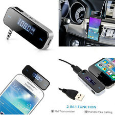 3.5mm In-car FM Transmitter Radio Audio Adapter for iPhone Samsung iPod iPad MP3