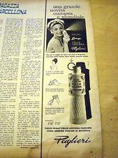 PUBBLICITA' ADVERTISING WERBUNG 1962 TALCO FELCE AZZURRA PAGLIERI (AM2)