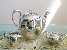 RARE SILVER 1000/000 GERMAN FEINSILBER AUFLAGE TEA / COFFEE SET **PERFECT!**