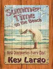 "TIN-UPS TIN Sign ""Summer Time On The Beach"" Vintage Garage Vaccation"