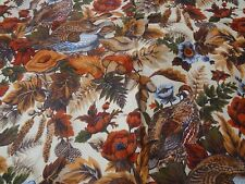 "4 Yards X 54"" Vintage Upholstery Fabric 1980 Irene by Regency Mills birds floral"