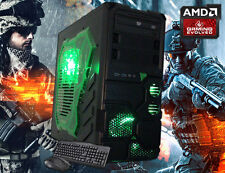 AMD Quad-Core Gaming Desktop PC Computer 16GB 2TB HDMI New Custom Built System