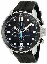 Tissot T0664271705702 New Seastar Men's Automatic Chronograph Black Dial Watch