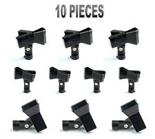 10 Pack Zebra Sounds Black Spring Clip Standard Microphone Holder for Mic Stands