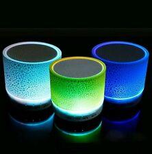 Wireless Bluetooth Speaker - LED Lights, FM Radio, USB Plug & Play, MicroSD Slot