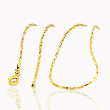 18 k Gold Plated Luxury Chain Lady Necklace for Women Chain 1 mm width N432