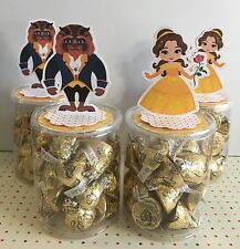 12x Princess Belle Beauty And The Beast Party Favor Candy Containers EMPTY