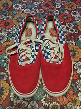 VTG 2007 Vans Syndicate S Rad Racing BMX Sneakers Shoes US 13 Blue Red Checkered