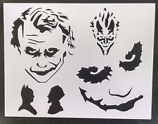 "Joker Batman Multiple 11"" x 8.5"" Stencil FREE SHIPPING"