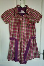 Girls Name It lined shirt dress age 7-8 years