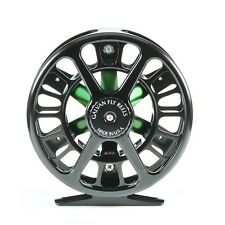 Galvan spoke s-3 light tackle fly reel-moscas papel - #2 3 4-Black/Green