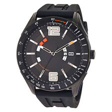Tommy Hilfiger Men's Black Tonal Rubber Silicon Quartz Sport Watch 1790797 NEW