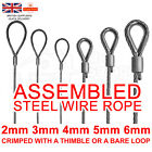 2mm 3mm 4mm 5mm 6mm ASSEMBLED STEEL WIRE ROPE GALVANISED STEEL METAL CABLE