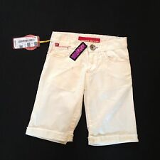 MISS SIXTY GIRLS 4 YEARS WHITE CROP JEANS SEQUIN DETAIL RRP £65 NOW £9.50