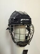 New - Bauer Re-Akt Hockey Helmet Combo - Color Navy - Size Large