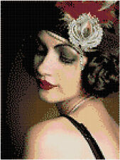Flapper Girl 14 count Cross Stitch Kit