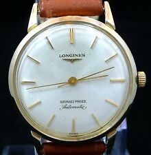 EXCELLENT ORIGINAL MEN VINTAGE 1962 LONGINES AUTOMATIC WATCH SERVICE TIME 340