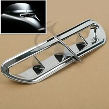Chrome Front Plastic Fairing Vent Accent For Harley Touring & Trike 2014-2016