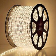 clear warm white rope light 150FT Spool 120V 2 Wire - 3FT Cuttable 2.1watts CL