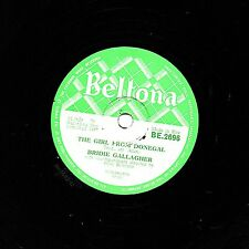 "RARE IRISH FOLK 78 BRIDIE GALLAGHER "" THE GIRL FROM DONEGAL"" BELTONA BE 2696 EX-"