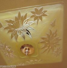 Vintage Lighting spectacular 1940s yellow low light by Virden   More Available