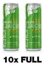 10x (TEN) Red Bull Energy Drink - Edicion Limon / Lime Edition - TEN 12 oz Cans
