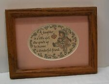 Daughter Growing Up Calligraphy Print in Wood Frame Lynn Norton Parker