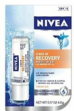 6 Pack - NIVEA A Kiss Of Recovery Medicated Lip Repair SPF 15 0.17 oz Each