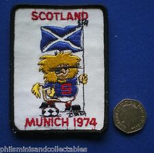 Scotland World Cup Cloth Badge/Patch   Munich  1974