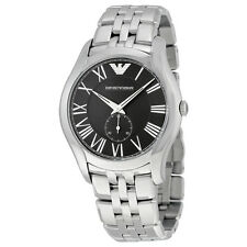 Emporio Armani Black Dial Stainless Steel Bracelet Mens Watch AR1706