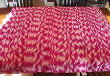Vintage Afghan GRANNY Handmade Crochet Quilt Throw Blanket 58x68 valentines pink