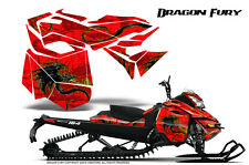 SKI-DOO REV XM SUMMIT SNOWMOBILE CREATORX GRAPHICS KIT DRAGON FURY YELLOW RED