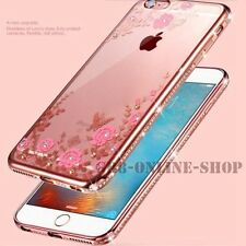 Luxury Clear Crystal Diamond Soft Silicone Case Cover For iPhone Samsung Phones