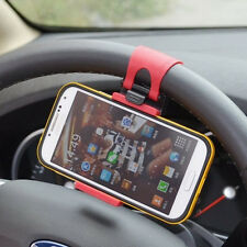 1X Car Steering Wheel Clip Mount Holder Cradle Stand For Mobile Phone Gps Mp3 T
