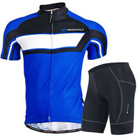 Mens Race Bike Cycling Coolmax Short Bicycle Jersey Padded Set Short Sleeve Suit