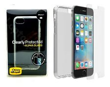 Genuine OtterBox TPU Skin Case Cover + Alpha Glass Screen Protector For iPhone 7
