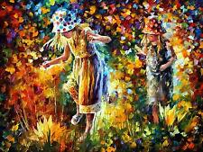 "TWO SISTERS — Oil Painting On Canvas By Leonid Afremov.  Size: 40""x30"""